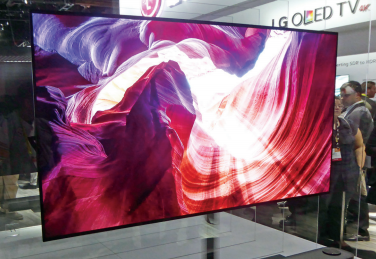 77-inch 4K HD OLED TV Shown by LG Electronics