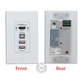 Wall Plate USB HDMI Transmitter